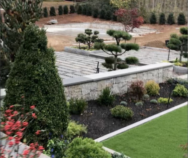 New property landscape design using some of Topiary plant product